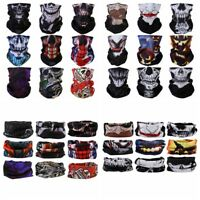 Seamless Face Neck Tube Mask Headband Skull Tactical Camouflage Bandana Scarf