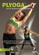 PLYOGA FITNESS 3 DVD SET FEATURED ON SWEAT INC WORKOUT NEW STEPHANIE LAUREN