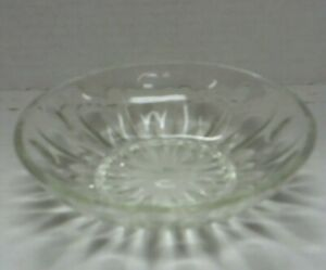 5 and 1/2 Inch Diameter Sunburst Design Glass Candy Bowl, Good Condition