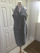 Ralph Lauren Black/White Check Silk Shirt Dress 12 Mint!