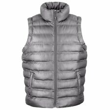 Result Ski Snow Quilted Padded Body Warmer Gilet - Wind and Showerproof XL Grey