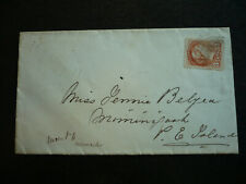 Postal History - Canada - Scott# 41 on Cover to Miminegash, PEI from Gagetown,NB