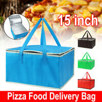 Pizza Burgers Pies Delivery Bag Insulated Thermal Food Storage Holds Carry