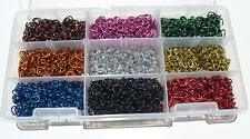 "Variety Jeweler kit 5/32"" 20G Chain Mail Bright Aluminum Jump split Rings Maile"