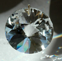 """Round Faceted Prism 40mm Austrian Crystal Clear SunCatcher 1.5"""""""
