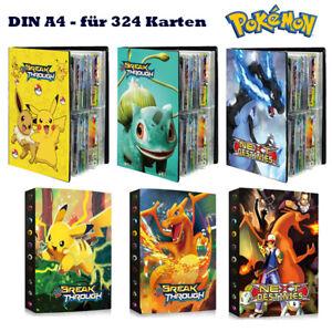 Pokémon Sammelalbum Karten 324 Karten 9 Pocket Ordner Portfolio Album Geschenk