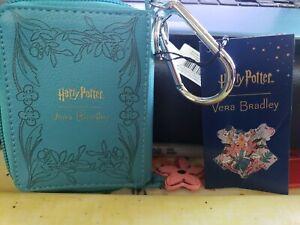 Vera Bradley /Harry Potter - Herbology - spell book, Bag Charm with flower - NWT