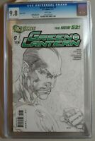GREEN LANTERN #1 DC New 52 1:200 SKETCH VARIANT CGC 9.8 NM/MT - WHITE PAGES