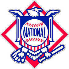 "National League MLB Baseball bumper sticker, wall decor, vinyl decal, 5""x 5"""