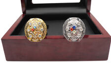 2 Pcs Ring 2008 Pittsburgh Steelers Championship Ring Great Gift !!
