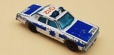 Vintage Matchbox 1979 Plymouth Gran Fury Police Car WHITE,BLUE MACAU OK CON.