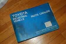 Toyota 5fdcu25 Forklift Truck Parts Manual Book Catalog Spare List Usa Na 1990