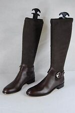 GUCCI WOMEN LEATHER & SUEDE STRETCH FITTED BIKER RIDING  BOOTS SIZE  6