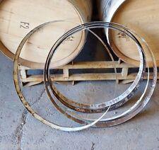 5 used Wine Barrel Hoops metal From Napa Valley WInery