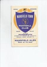 Third Division Mansfield Town Teams L-N Football Programmes