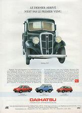 Publicité Advertising 1992  DAIHATSU  applause , feroza , charade , ...
