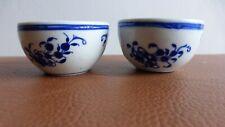 Tournai.Porcelaine.2 pochons tasses bols XIXème.2 porcelain pouches cups .....A