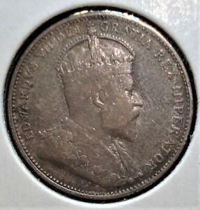 1910 Silver Canadian Quarter