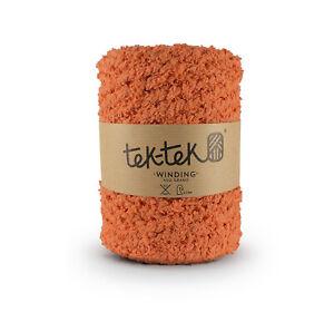 Cotton Bouclé  ORANGE New Cotton Knitting Crochet Weaving Rug 120m washable