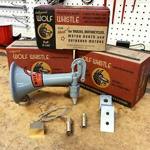 Vintage Hollywood Wolf Whistle Horn Hot Rod Muscle Car Auto Ford GM LOUD! 123 dB