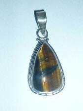 cristalloterapia PENDENTE ARGENTO 925 OCCHIO DI TIGRE pietra naturale gioiello 3