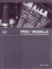 HARLEY Werkstatthandbuch 2012 VRSCF VRSCDX V-Rod DEUTSCH 99501-12DE Anleitung