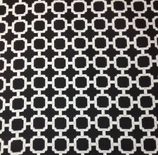 "MILL CREEK HOCKLEY NOIR BLACK LATTICE OUTDOOR FURNITURE FABRIC BY THE YARD 55""W"