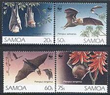 Samoa 1993 Mi 754-57 ** WWF Animals Tiere Zwierzęta Flughunde Bat Nietoperz
