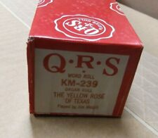 Qrs Kimball Electramatic Player Organ Roll Yellow Rose Of Texas Nos Rare Read