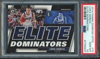 ⭐️💥2019 Panini Donruss Optic Elite Dominators #10 Luka Doncic PSA 10 GEM⭐️💥