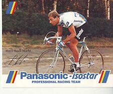CYCLISME carte  cycliste HANS RUDI MARKI  équipe PANASONIC isostar 1988