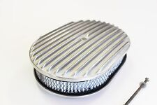 AIR CLEANER 12 INCH OVAL FULL FINNED ALLOY COMPLETE WITH ELEMENT SUIT 4 BARRELL