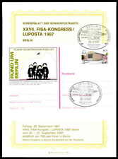 BERLIN GA-SONDERBLATT 1987 FISA-KONGRESS LUPOSTA AVIATION FLUG GANZSACHE ze81