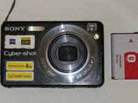 Sony Cyber-shot DSC-W110 7.2MP Digital Camera - Black (No Charger)Untested