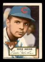 1952 Topps Set Break #172 Eddie Miksis VG *OBGcards*