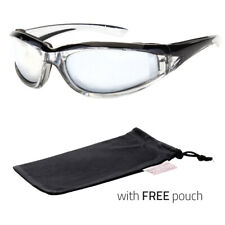 Wind Resistant Sunglasses Extreme Sports Motorcycle Riding Glasses X Black Pouch