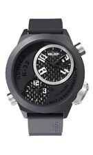 Welder by U-Boat K32 Triple Time Zone Black Ion-Plated Steel Mens Watch K32-9202