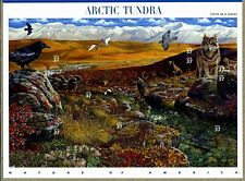 ARCTIC TUNDRA US NATURE SERIES 2003 SCOTT 3802 FAUNA FLORA 10 VF 37c STAMP SHEET