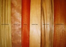 REAL WOOD VENEER 15 EXOTIC SHEETS FOR CRAFTS,MARQUETRY,REFURBISHMENT,BOXES,
