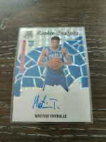 2019-20 Panini Mosaic Basketball Silver Prizm RC Scripts Auto Matisse Thybulle