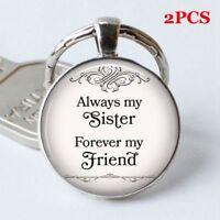 "Friendship Gift keyChain Key Ring ""Always My Sister, Forever My Friend"""
