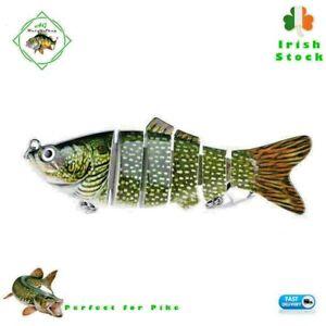 Fishing Lure Plug Multi Jointed Hard Swimbait l Pike-Salmon Perch Tackle Bait