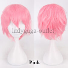 Fluffy Straight Cartoon Women Mens Wig Short Straight Anime Cosplay Hair Wig &ga