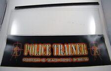 POLICE TRAINER STANDUP ARCADE HEADER MARQUEE w/ PLEXIGLASS, USED