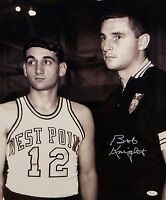 Bob Knight Autographed 16x20 With Mike Krzyzewski B& W Photo and JSA W Auth
