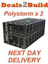 2 x POLYPIPE Polystorm PSM1A Soakaway Crates FREE NEXT DAY DELIVERY
