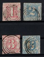 T4292/ GERMANY – THURN & TAXIS – MI # 38 / 39 – 42 / 43 USED – CV 145 $