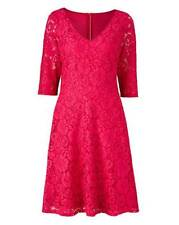 JD Williams Lorraine Kelly Fit Flare Lace Dress Size 16 or 22 BNWT £65 Hot Pink