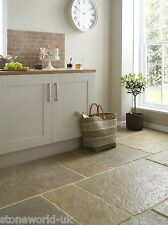 Tumbled Umbrian Limestone Floor Tiles & Slabs Natural Aged Flagstone Tiles