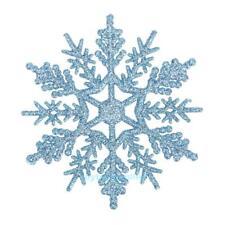 24pcs Plastic Glitter Snow Flake Christmas Tree Decor Xmas Snowflakes Ornaments